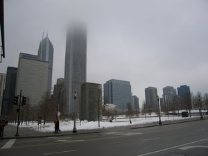 A Small part of Downtown Chicago in the winter