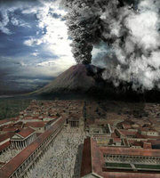 The eruption of the Vesuvius in Discovery Channel's .