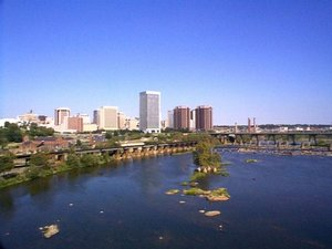 Downtown Richmond as seen from the James River