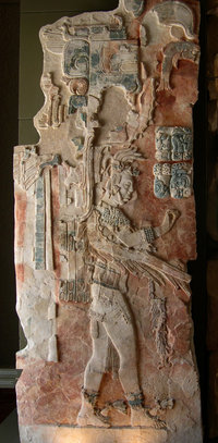 A stucco relief in the museum at