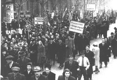 Left Bloc rally, March 7, 1946