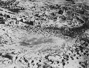 The remains of German town of Wesel after intensive allied area bombing in 1945 (destruction rate 97% of all buildings).