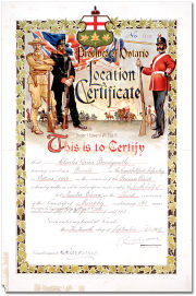 Location Certificate issued in 1905