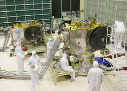 The STEREO Space Probes in a Goddard Center Cleanroom