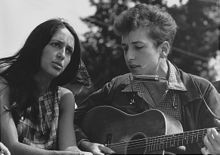 Joan Baez and Bob Dylan at the March on Washington, 1963