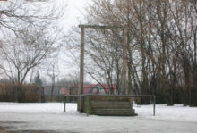 Gallows in Auschwitz concentration camp