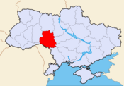 Location of Vinnytsia Oblast
