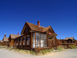 Skyline of Bodie, California