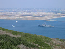 Coronado and San Diego, as viewed from the Cabrillo National Monument.