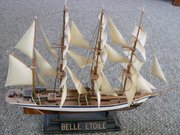 A model of a vessel of the clipper type, the four-masted barque named Belle Étoile