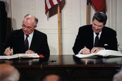 Gorbachev and Reagan in 1987.