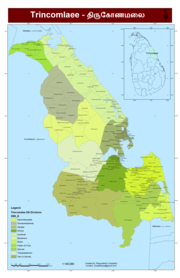 Trincomalee District Map