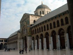 The Umayyad Mosque in the center of Damascus