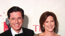 Stephen Colbert and his wife Evelyn McGee-Colbert at the 2006 Time 100.