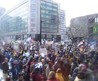 March 15, 2003, peace protest in Montreal.