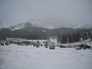 The base of Arapahoe Basin on October 29, 2004