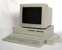 The Macintosh II, the first expandable Macintosh.