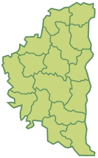 Districts of Ternopil Oblast