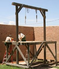 These gallows in Tombstone Courthouse State Historic Park are maintained by Arizona State Parks.