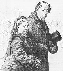 Benjamin Disraeli and Queen Victoria.