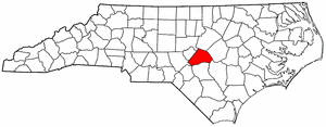 Image:Map of North Carolina highlighting Harnett County.png