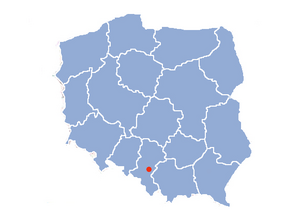 Location of Tychy
