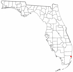 Location of North Miami, Florida