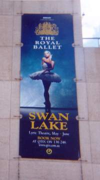 Poster for the Royal Ballet at the Lyric Theatre at QPAC