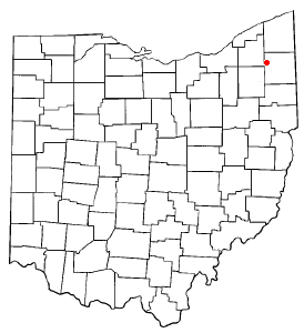 Location of West Farmington, Ohio