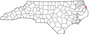Location of Kill Devil Hills, North Carolina