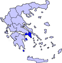 Location of Attica Periphery in Greece