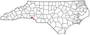 Location of South Gastonia, North Carolina