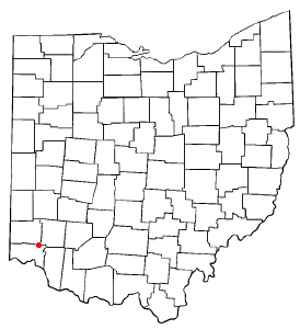 Location of Sharonville, Ohio