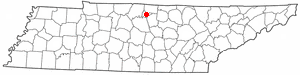 Location of Hartsville, Tennessee