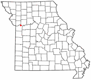 Location of Sibley, Missouri