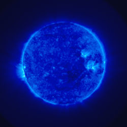 One of the first images of the Sun taken by STEREO