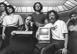Part of the original Macintosh design team, as seen on the cover of Revolution in the Valley. Left to right: George Crow, Joanna Hoffman, Burrell Smith, Andy Hertzfeld, Bill Atkinson, Jerry Mannock.