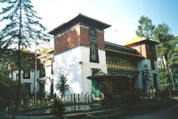The Tibetology Museum displays rare Lepcha tapestries, masks and Buddhist statues.