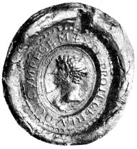 Seal with Louis' inscription and effigy.