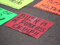 March 24, 2007, anti-Bush protest in Washington DC.