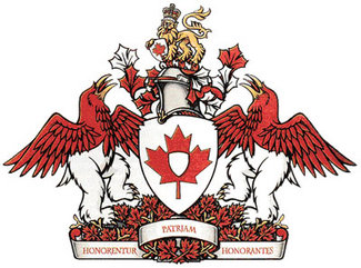 The full armorial bearings of the Canadian Heraldic Authority