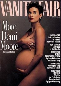 Demi Moore appearing nude and pregnant, showing how pregancy can be sexual