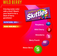 Wild Berry Skittles Web Page Shot