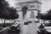 Germans parading in the deserted Champs-Élysées avenue, Paris, June 1940.