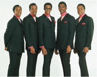 The Temptations, 1967. Left to right: Melvin Franklin, Eddie Kendricks, David Ruffin, Otis Williams, and Paul Williams.