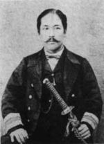 Enomoto Takeaki as President of the Republic of Ezo in 1869.