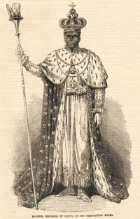 Faustin I Emperor of Haiti 1849-1859The Illustrated London News, February 16, 1856