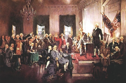 Scene at the Signing of the Constitution of the United States, by Howard Chandler Christy.