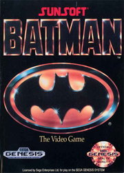 The simple but effective box cover of Batman that matched the original video (and later DVD) cover