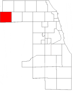 Location in Cook County.